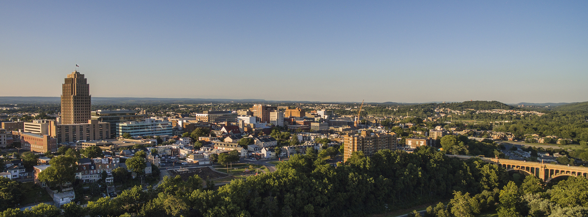 Aerial photo of Allentown