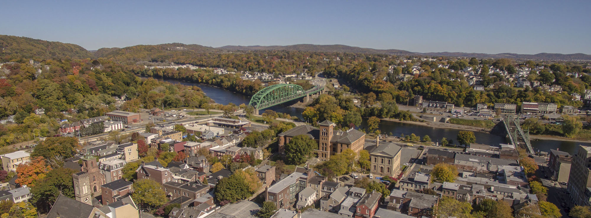Aerial photo of Easton